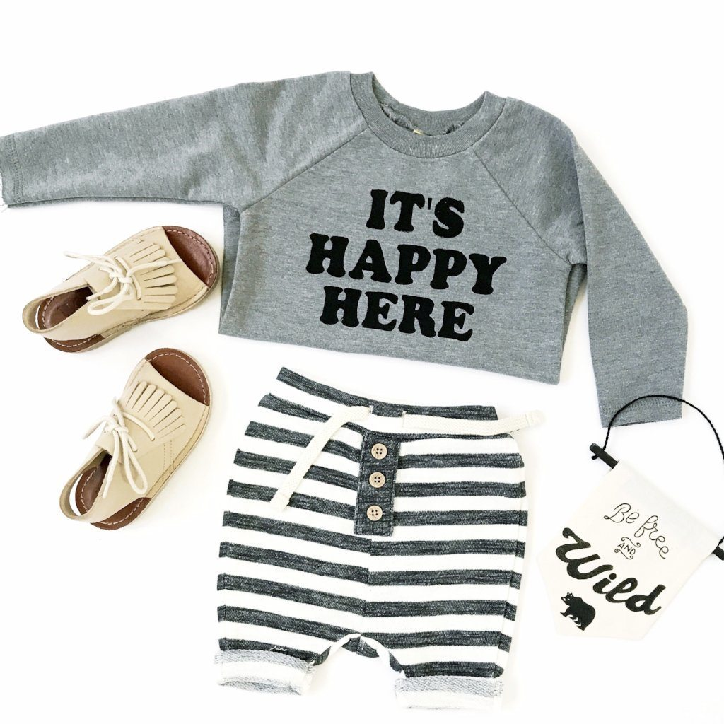"""Happy Here"" Pullover"