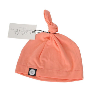 Infant Knot Beanie - Peach - Little Adi + Co.