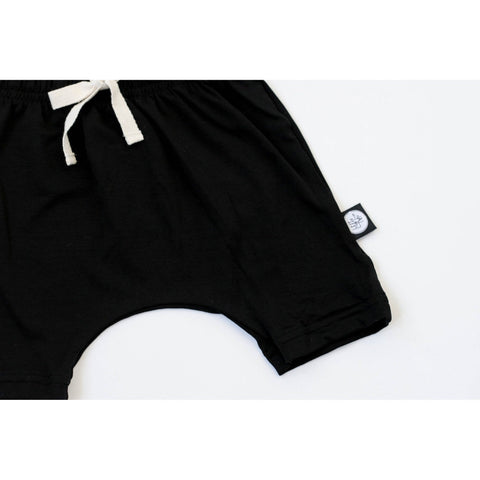 Black Bamboo Harem Short