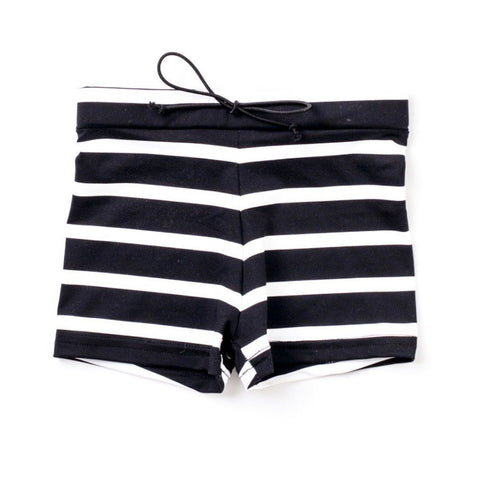 SWIM Trunks - black stripe - Little Adi + Co.