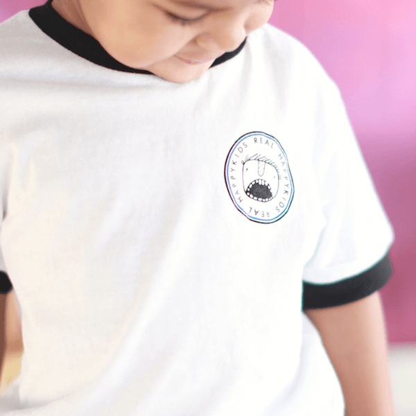 """Happy Patch"" Ringer Tee - Little Adi + Co."