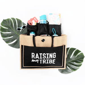 """Tribe"" Jute Beach Tote - Little Adi + Co."
