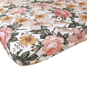 Mini Scout - Garden Floral Crib Sheets - Little Adi + Co.