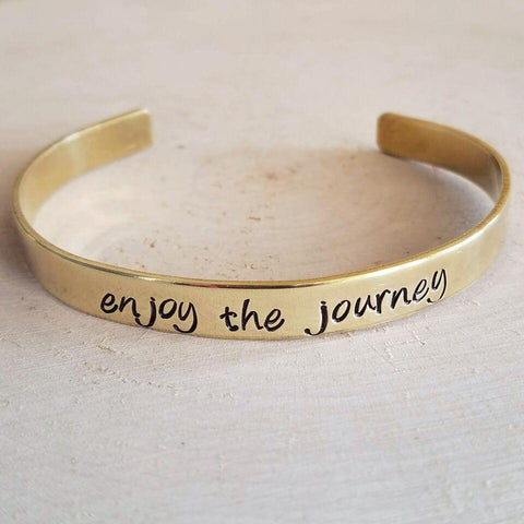 Expressions Bracelets - Enjoy the Journey Mantra Cuff - Little Adi + Co.