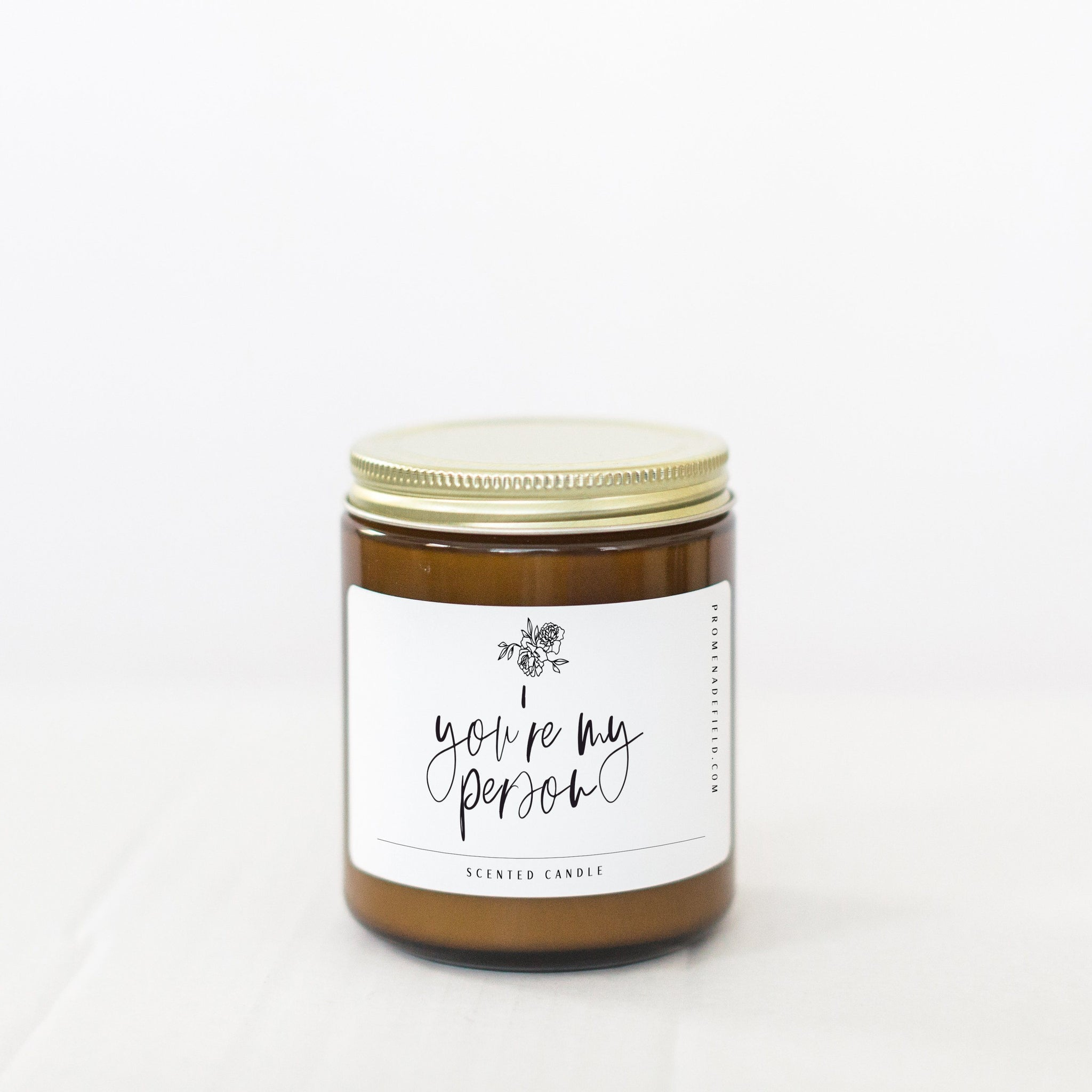 Promenade Field - 8 oz You're My Person Soy Candle - Amber - Little Adi + Co.
