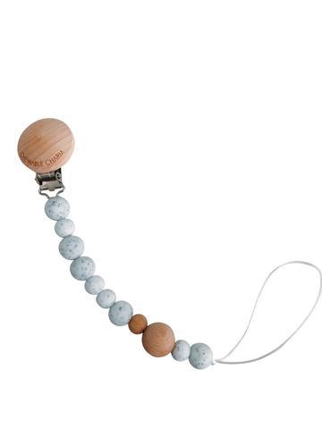 Chewable Charm - Classic Pacifier Clip - Moonstone - Little Adi + Co.