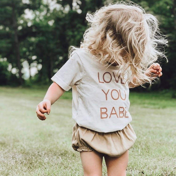 Tenth & Pine - Love You Babe Short Sleeve Tee - Little Adi + Co.