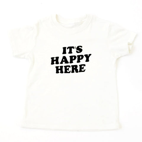 """Happy Here"" Natural Tee"