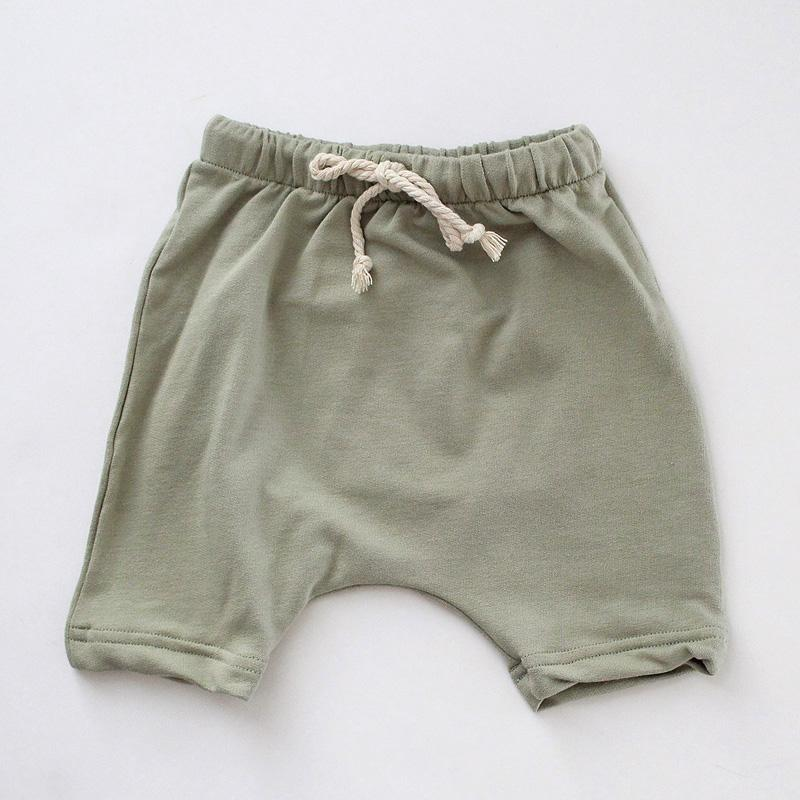 French Terry Harem Short | sage - Little Adi + Co.