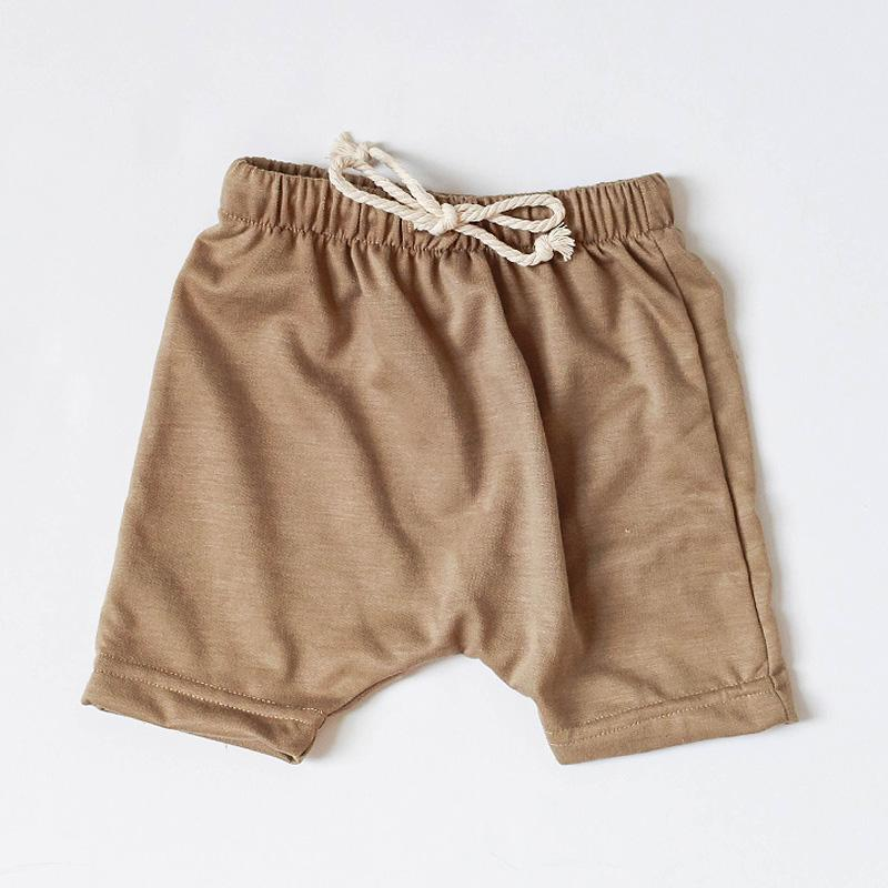 French Terry Harem Short | desert tan - Little Adi + Co.