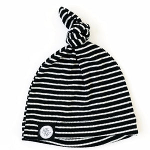 Stripe Infant Knot Beanie - Little Adi + Co.