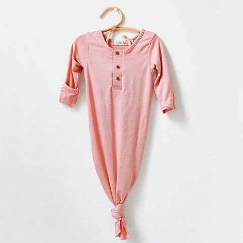 Knot Gown | pale peach - Little Adi + Co.