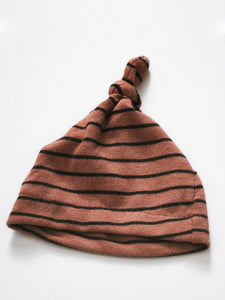 Infant Knot Hat - Terracotta Stripe - Little Adi + Co.