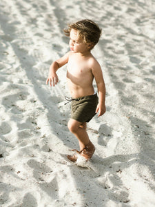 SWIM Trunks -  Heathered Olive - Little Adi + Co.