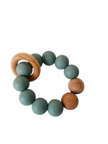 Remy Silicone + Wood Teether, Succulent - Little Adi + Co.