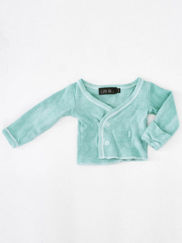 Newborn Snap Tee - Celadon - Little Adi + Co.