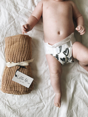 Bamboo Muslin Swaddle - Little Adi + Co.