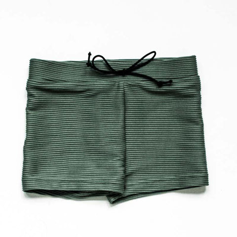 SWIM Trunks - Ribbed Olive