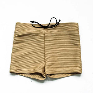 SWIM Trunks - Ribbed Golden Tan