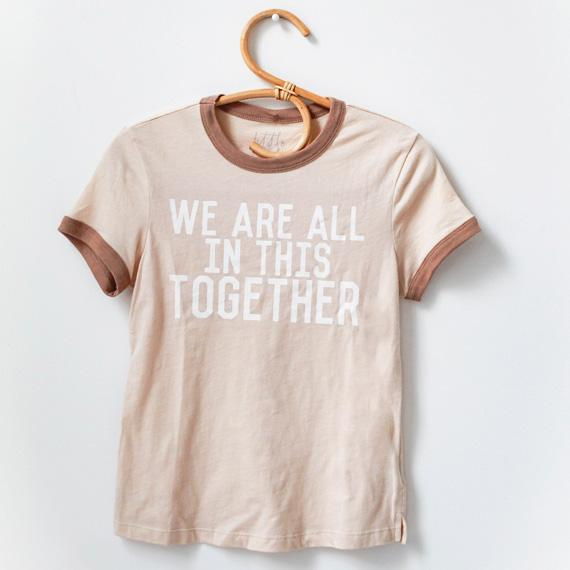 "Adult ""Together"" Ringer Tee - Natural - Little Adi + Co."