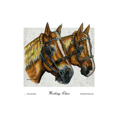 """Working Class"" Draft Horse Team Portrait"
