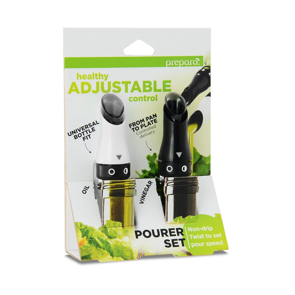 Adjustable Oil and Vinegar Pourers (2 pack)