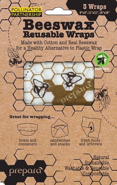 Natural Beewax Food Wrap (Honeycomb) - Set 3 Sheets