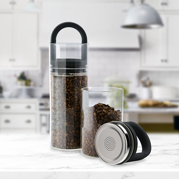Gloss Black EVAK Glass Food Storage