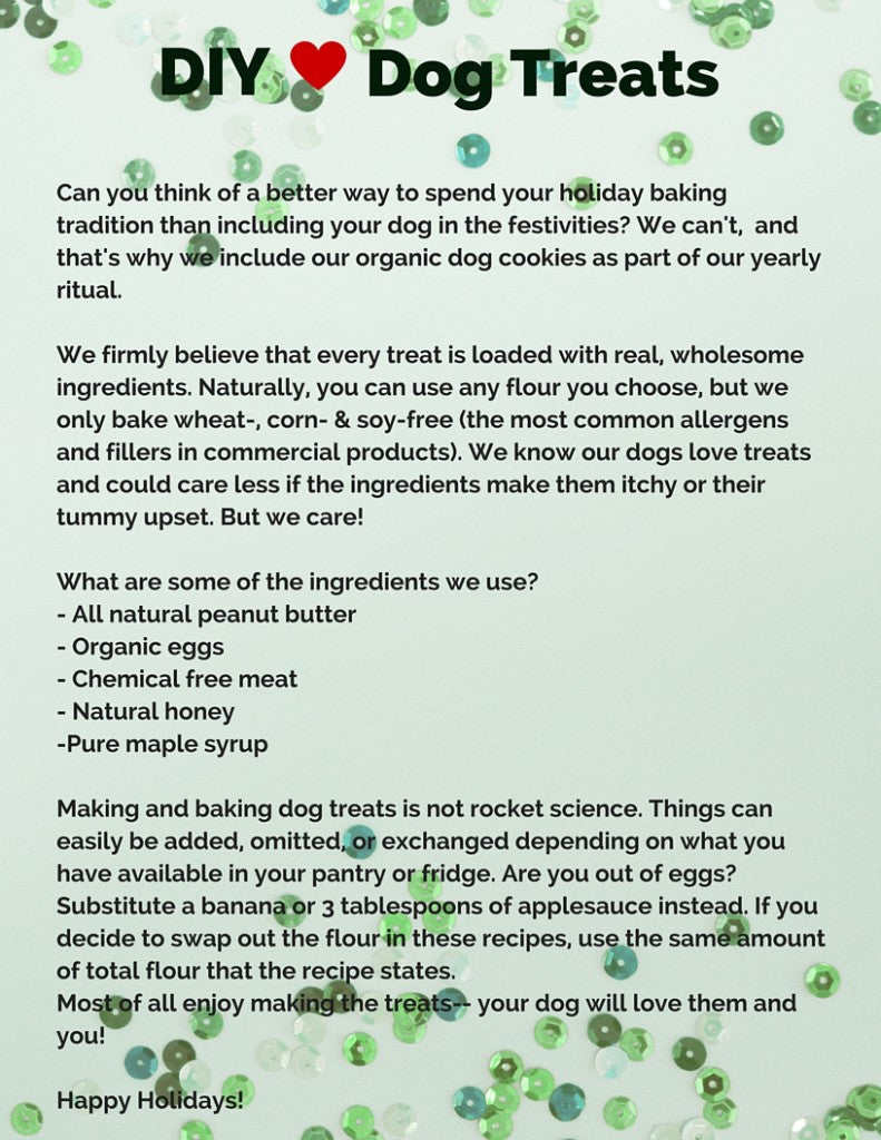 DIY Healthy Holiday Dog Treats