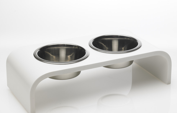 4 Inch Elevated Pet Bowl With Two 1 Pint Bowls Trendy Pet