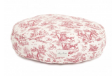 Toile Round Dog Beds