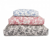 Toile Rectangle Dog Beds