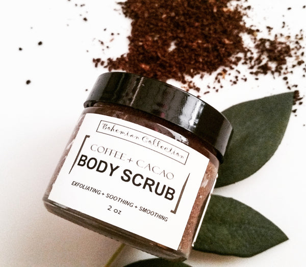 2oz COFFEE + CANE SUGAR BODY SCRUB (travel size)