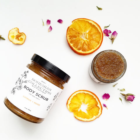 8oz CITRUS + ROSE BODY SCRUB