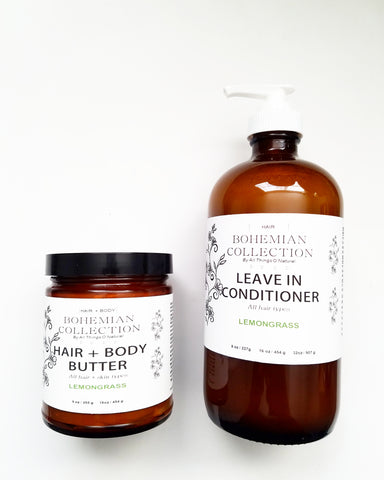 PRE ORDER 9oz HAIR + BODY BUTTER/LEAVE IN CONDITIONER COMBO