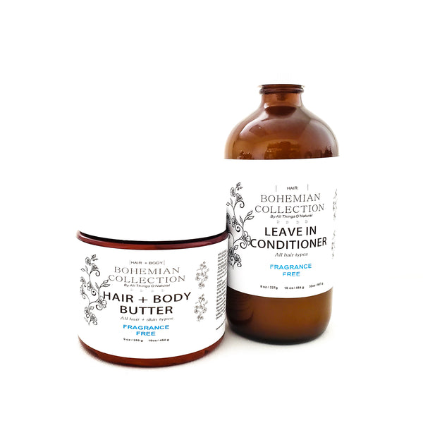 16oz HAIR + BODY BUTTER/LEAVE IN CONDITIONER COMBO