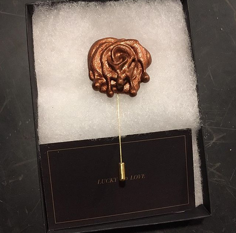 Handmade Rose Pin