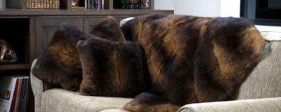 possum fur cushions made in New Zeland