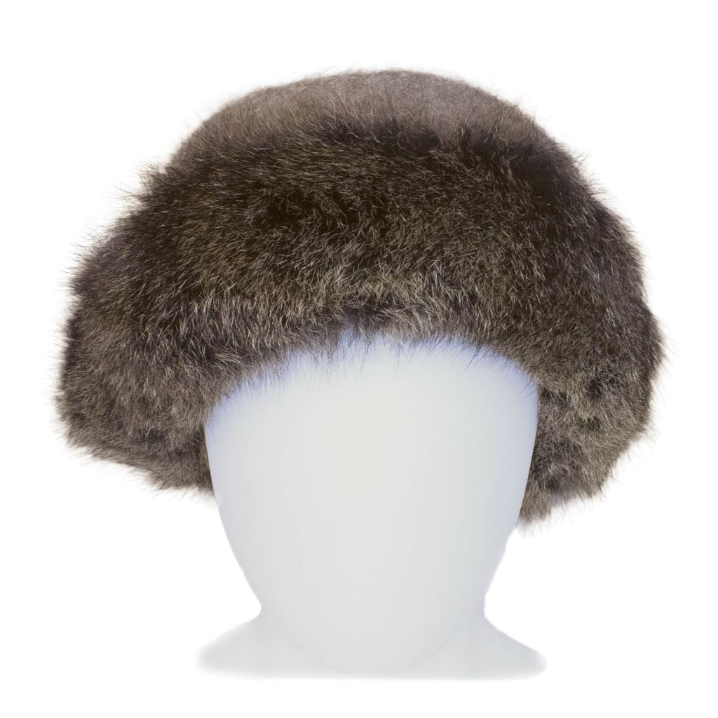 KORU MERINO POSSUM fur trim HAT and SCARF