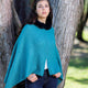 KORU MERINO POSSUM FUR TRIM ZIP PONCHO