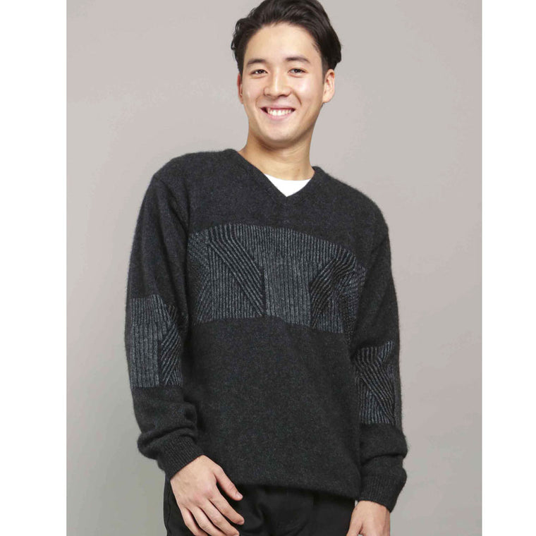 SALE PRICE plated weave SWEATER