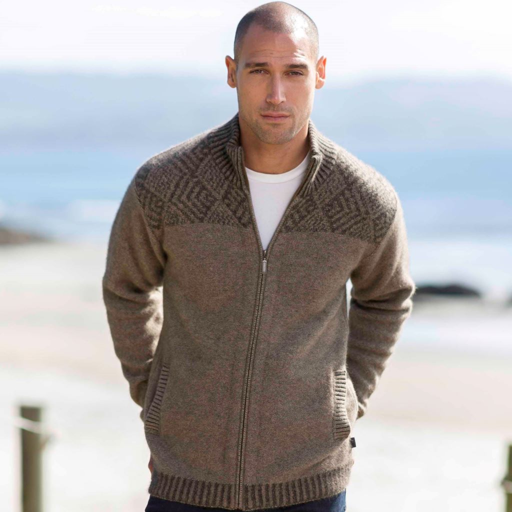 KORU MERINO POSSUM plated JACKET