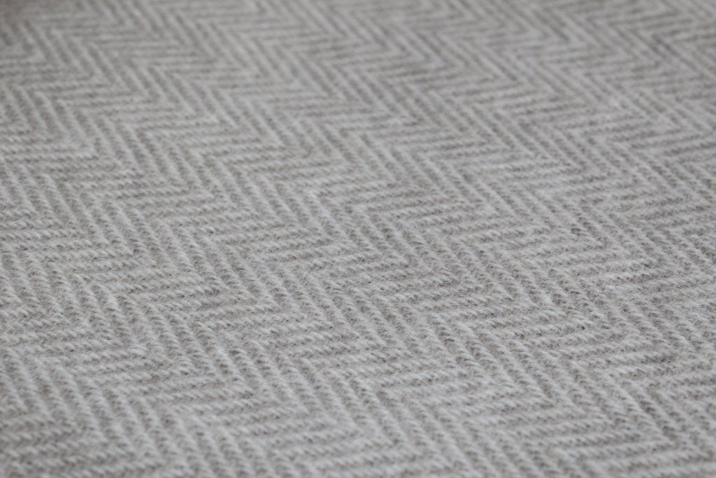 plain herringbone LUXURY LAMBSWOOL BLANKETS