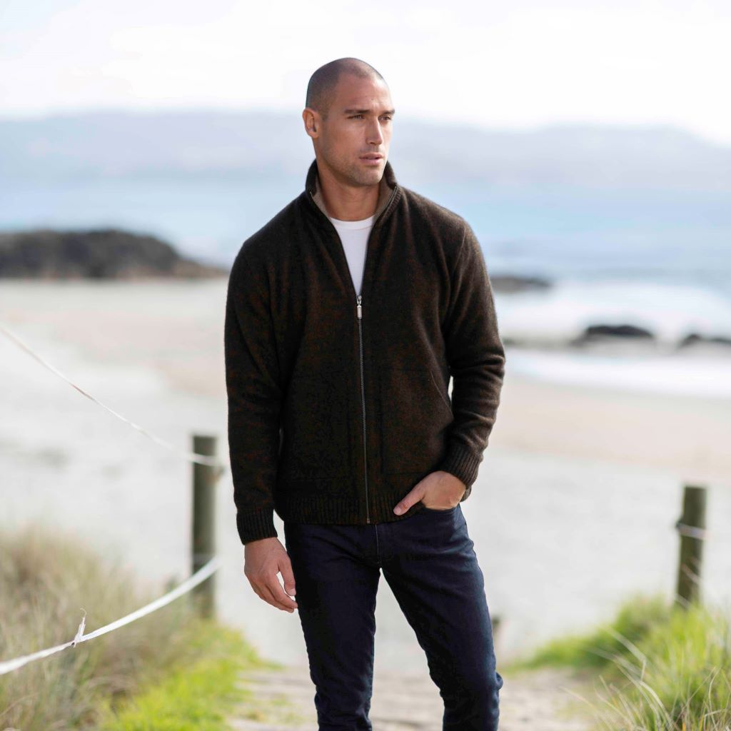 KORU MERINO POSSUM trilogy ZIP JACKET WITH POCKETS