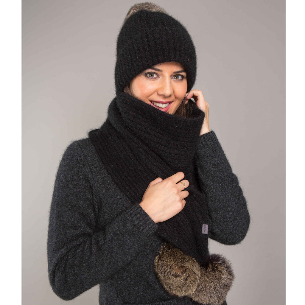8a44d497a5b fur pompom BEANIE and SCARF – NZ Shopping