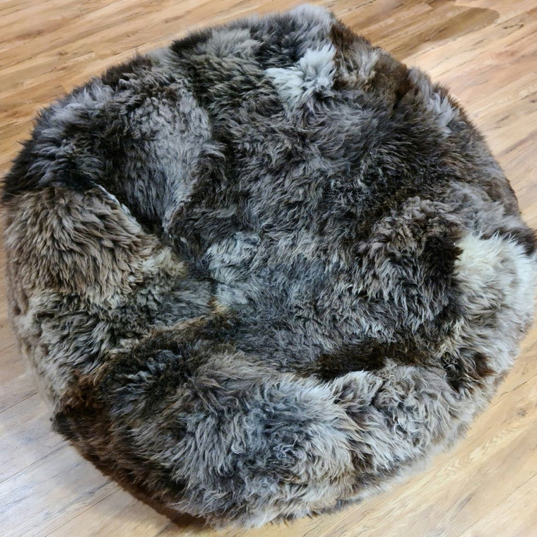 bowron sheepskin COLOSSUS NATURAL BLACK BEANBAG