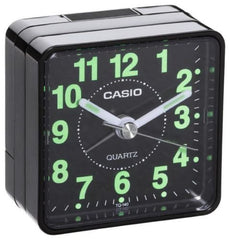 CASIO TQ140 BEDSIDE DESK BEEP ALARM CLOCK PERFECT FOR TRAVELLING + BATTERY BLACK