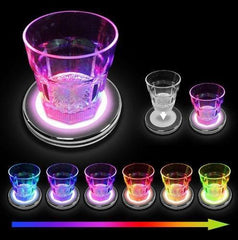 3 x LED Colour Changing Base Drink Glass Bottle Club Party Light Up Coasters