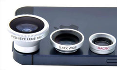 Camera Set Fish Eye Wide Angle Macro Lens For iPhone HTC Samsung Smart Phone UK