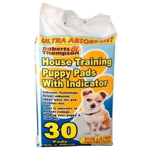 30 Puppy House Training Potty Pads with Indicator